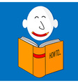 A happy book cartoon character vector image vector image