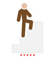 a man climbing stairs icon color fill style vector image vector image