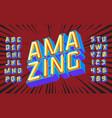 amazing lettering 3d vintage letters vector image vector image