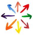 arrows backgroundBrush stroke vector image vector image
