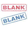 blank textile stamps vector image