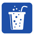 blue white information sign - carbonated drink vector image