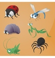Bugs icons vector image vector image