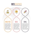 Business infographics Timeline with 3 parts vector image vector image