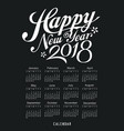 calendar black and white design vector image vector image