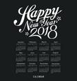 calendar black and white design vector image vector image