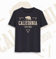 california state graphic t-shirt design vector image vector image