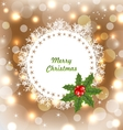 Christmas Cute Invitation with Holly Berry vector image vector image