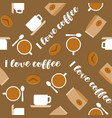 coffee seamless pattern for use as wallpaper vector image vector image