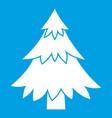 coniferous tree icon white vector image