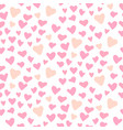cute hearts seamless pattern valentines vector image