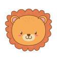 cute lion woodland character vector image vector image