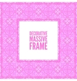 Decorative colorful square frame with lace vector image