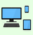 devices icon black laptop tablet and smart phone vector image