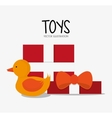 Duck toy and game design vector image vector image