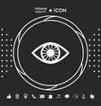 eye icon symbol graphic elements for your vector image
