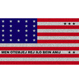 Flags Bikini Atoll on denim texture vector image vector image