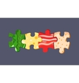 food puzzles vector image vector image
