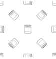 food tin can pattern seamless vector image vector image