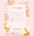 gift certificate card - modern certificate vector image