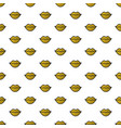 gold lips seamless pattern on white background vector image vector image