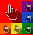 hand sign set of icons with vector image vector image