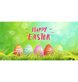 happy easter typography egg paint magic vector image vector image