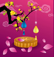 happy mid autumn festival chinese background vector image vector image