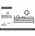 Hospital bed line icon vector image vector image