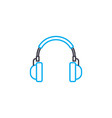 listening to music linear icon concept listening vector image vector image