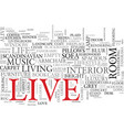 live word cloud concept vector image vector image