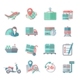 Logistic icons set flat vector image vector image