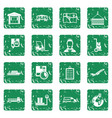 logistic icons set grunge vector image vector image