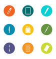 measure the cure icons set flat style vector image vector image
