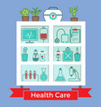 medical decorative icons set vector image vector image