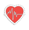 medicine flat icon for design heart world blood vector image