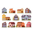 modern houses cartoon townhouse architecture vector image