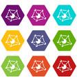 molecule lab icons set 9 vector image vector image