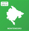 montenegro map icon business concept montenegro vector image vector image