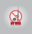 no war icon design vector image