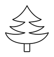 pine tree with wooden log graphic vector image vector image