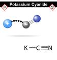 Potassium cyanide molecule vector image