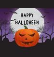 pumpkin cemetery bats vector image
