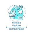 purchase decision turquoise concept icon online vector image