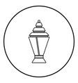 ramadan kareem lantern or fanous icon black color vector image vector image