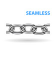 realistic metal chain seamless texture silver vector image vector image