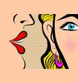 retro pop art style comic style book panel gossip vector image