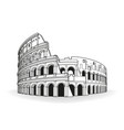 rome coliseum hand drawn outline doodle icon vector image vector image