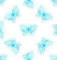 seamless pattern of watercolor butterflies vector image