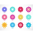set of colorful flower icons vector image